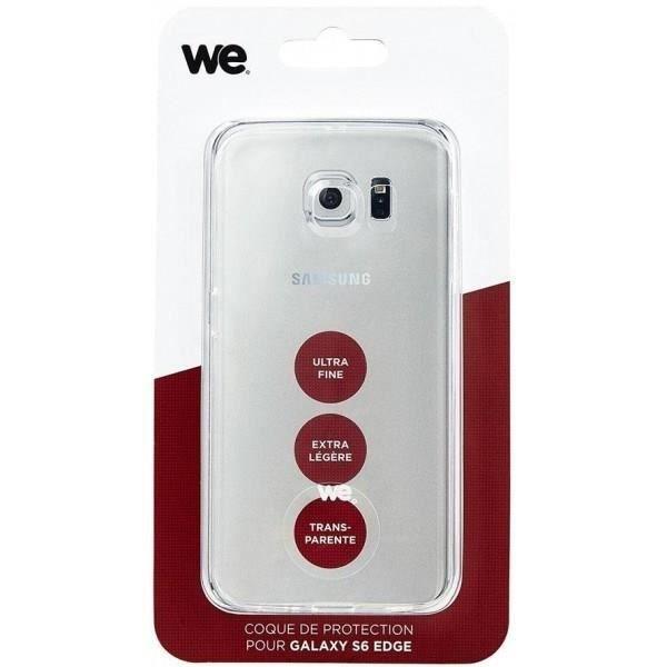 WE Coque de protection pour Galaxy S6 Edge - Semi rigide - Transparente