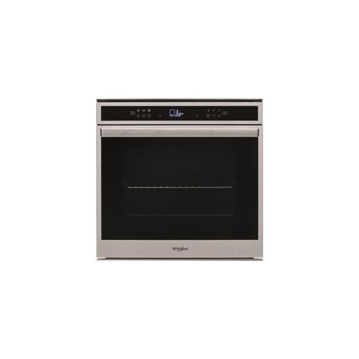 WHIRPOOL Four multifonction, pyrolyse, inox anti-trace, XXL 73L, chaleur pulsée,