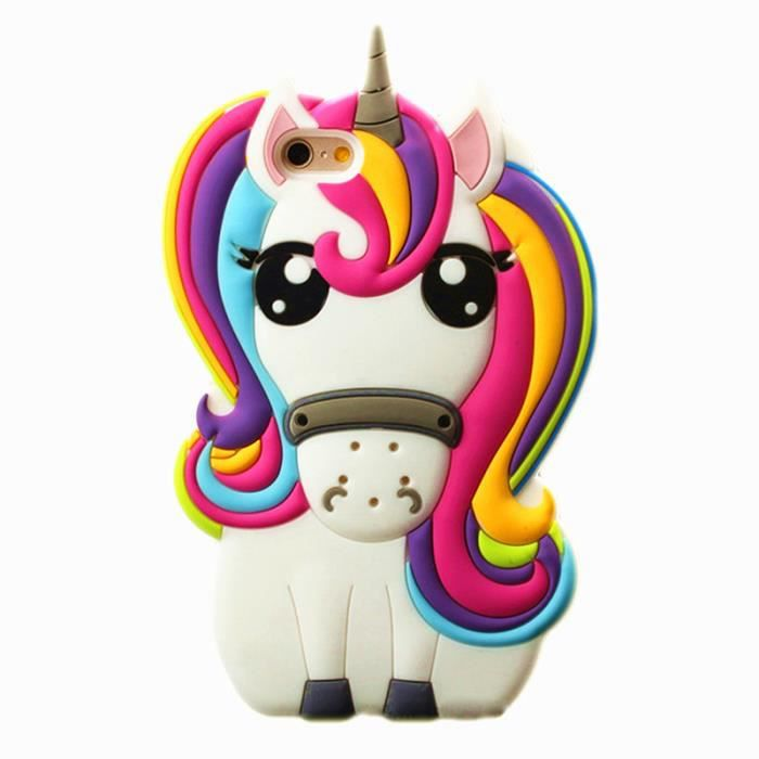 coque pour iphone 6 4 7 pouces 3d mignon cheval licorne silicone pais coque pour iphone 6s. Black Bedroom Furniture Sets. Home Design Ideas