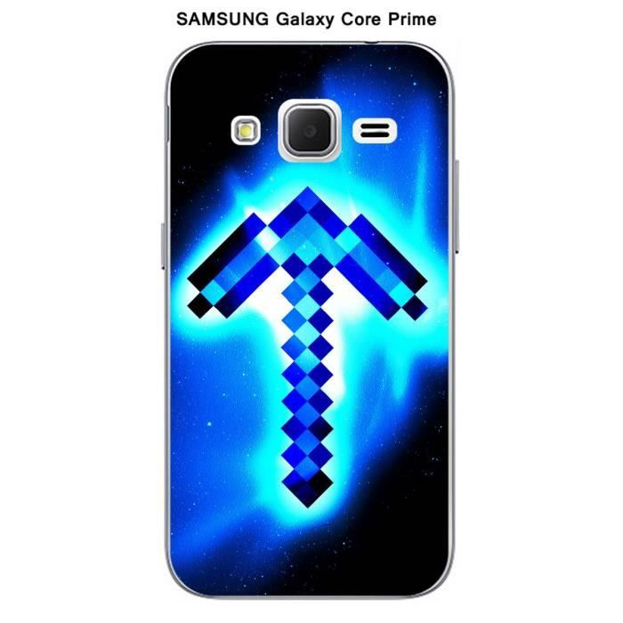 coque samsung galaxy core prime minecraft 3 achat. Black Bedroom Furniture Sets. Home Design Ideas