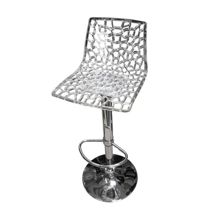 Spider Tabouret De Bar Transparent D Coup Design Transparent Achat Vente Tabouret De