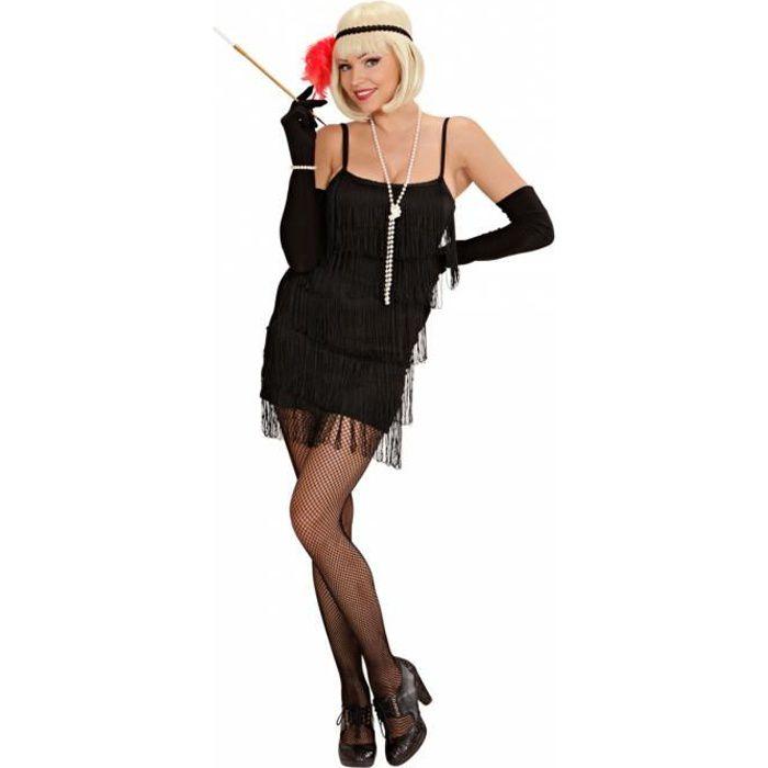 Charleston Robe Noire Xl Achat Vente Deguisement Panoplie Cdiscount