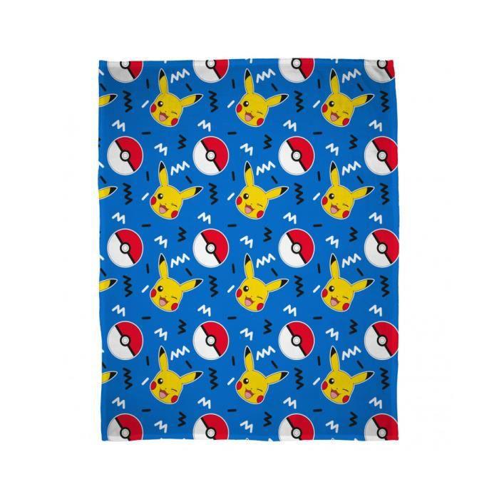 COUVERTURE - PLAID Pokémon Pikachu Couverture Polaire …