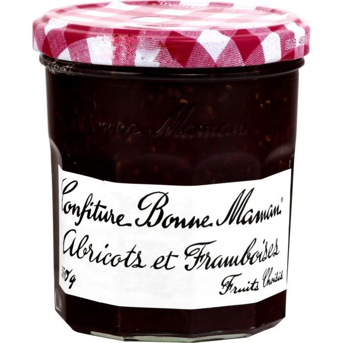 confiture abricot framboise