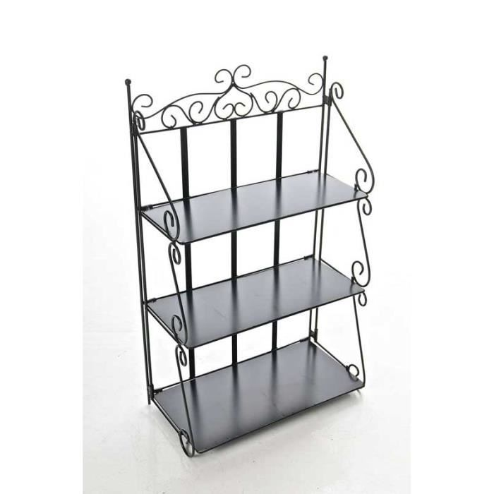 Clp grande tag re en fer stable wally 48 x 26 cm - Etagere murale en fer ...