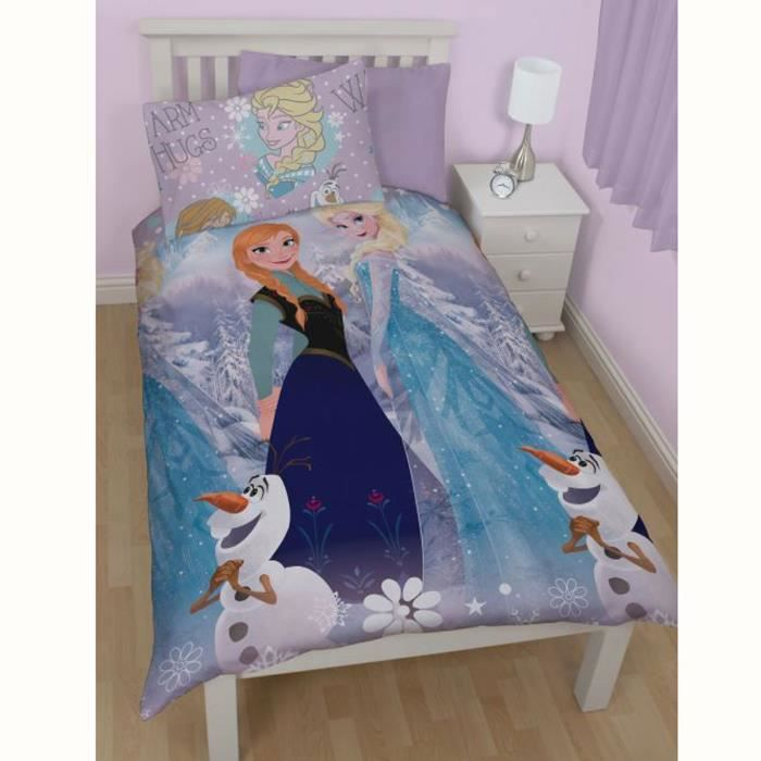 frozen reine des neiges parure de lit 1 p 140cm achat vente parure de couette cdiscount. Black Bedroom Furniture Sets. Home Design Ideas