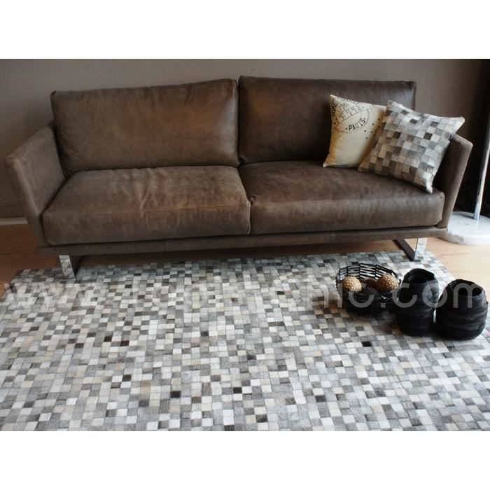 tapis en peau de vache home spirit rodjer tons achat vente tapis cdiscount. Black Bedroom Furniture Sets. Home Design Ideas
