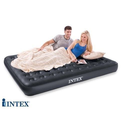 lit gonflable flockage velvet intex 2 places achat. Black Bedroom Furniture Sets. Home Design Ideas