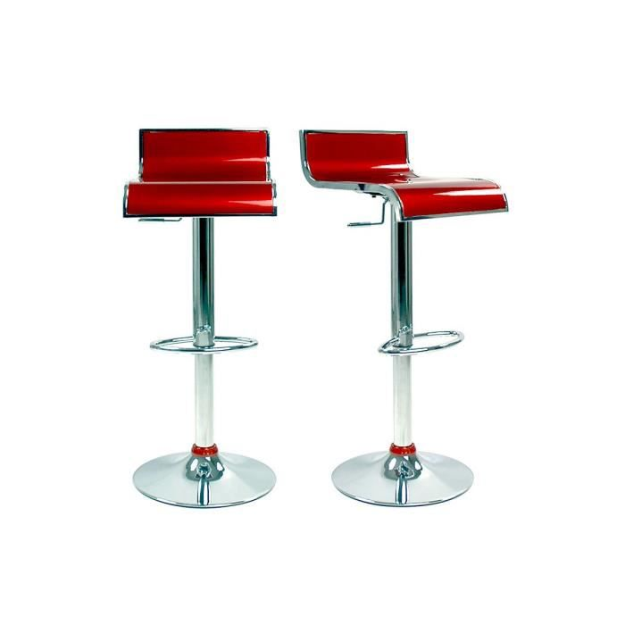 tabourets de bar moderne lie de vin waves x 2 achat vente tabouret de bar mati re du. Black Bedroom Furniture Sets. Home Design Ideas