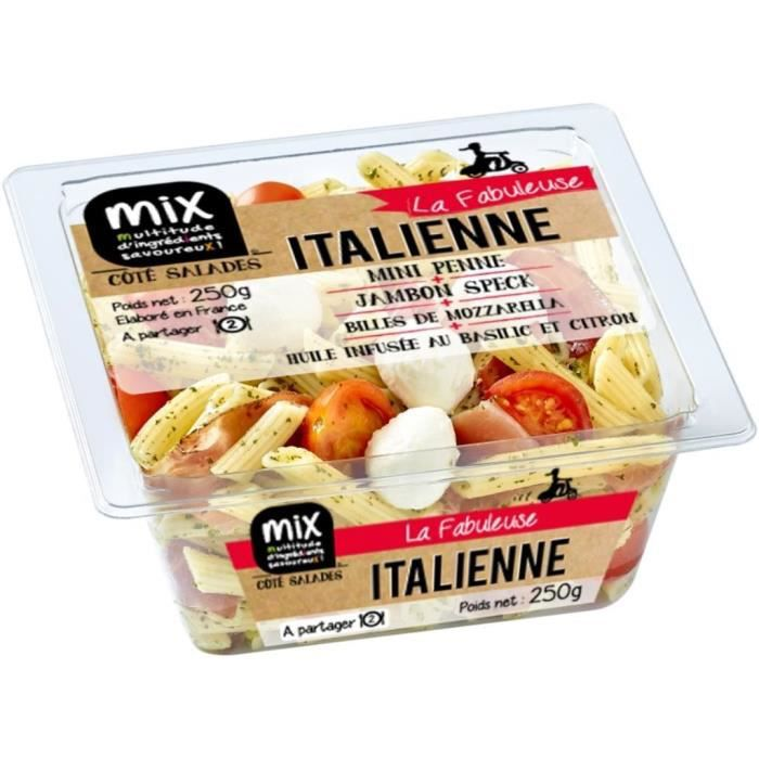 Mix buffet salade italienne la fabuleuse 250g achat for Fenetrea mix buffet