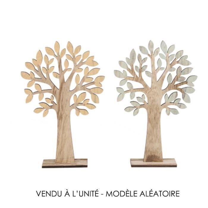 Arbre En Bois Sur Socle 35 5cm 2ass Blanc Achat Vente Décoration De Table Prolongation Soldes Cdiscount