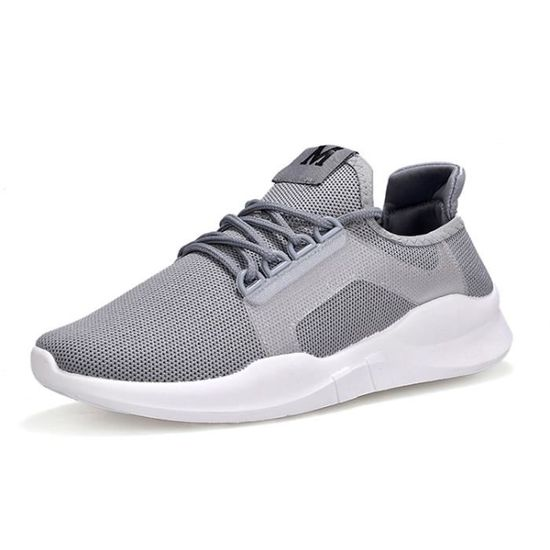 Baskets Homme mixte AIR- Blanc chaussures de sport Blanc Blanc AIR- - Achat / Vente basket a83da9