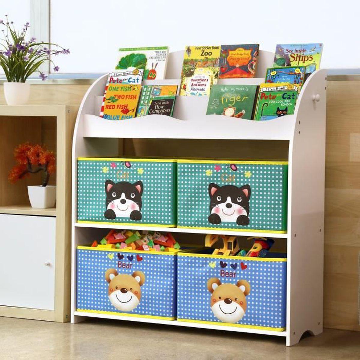 Etagere Pour Chambre Enfant homfa meuble de rangement jouets etagère de jouets pour