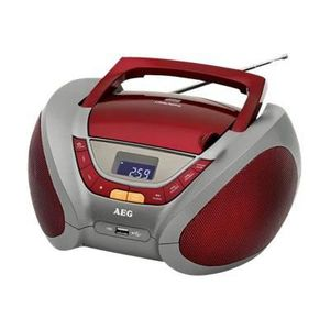 AEG SR 4358CD RD Radio CD MP3 USB Aux-In LCD - Rouge
