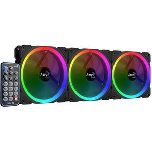 VENTILATION  AEROCOOL Pack de 3 Ventilateurs pour boitier PC Or