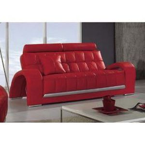 canape cuir rouge 3 places achat vente canape cuir. Black Bedroom Furniture Sets. Home Design Ideas
