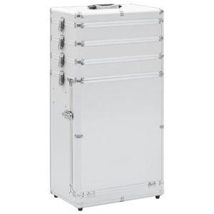 VALISE - BAGAGE Valise de maquillage 37 x 24 x 74 cm Aluminium Arg