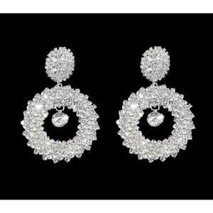 New Fashion femmes dame élégante cristal strass flocon de neige Oreille Clous D/'Oreilles