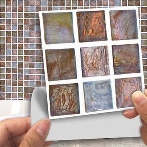 CARRELAGE - PAREMENT tenoens® sticker mural multi 18pcs Carrelage mosaï