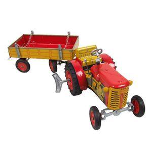 VOITURE - CAMION Tracteur remorque rouge Jouet mecanique avec moteu