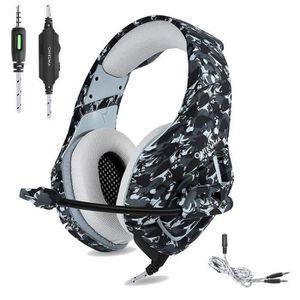 CASQUE AVEC MICROPHONE QX Casque Gaming pour Ps4 Xbox One, Camouflage Cas