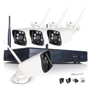 CAMÉRA DE SURVEILLANCE Système de vidéosurveillance 4CH sans fil 1080P NV