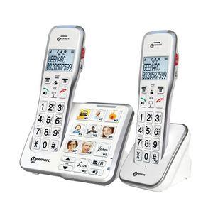 Téléphone fixe Geemarc AMPLIDECT 595 DUO Téléphones sans fil duo