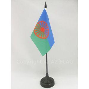 Voyageur 30 x 45 cm Gitan AZ FLAG Pavillon Nautique Gypsi 45x30cm Drapeau de Bateau Rom Tzigane