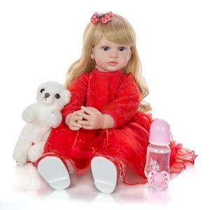POUPÉE Poupée Princesse Bébé Bébé Reborn 60 cm-blue eyes