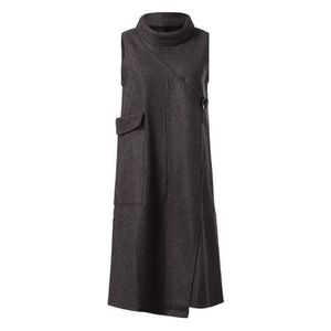 ROBE Hiver chaud Paisley femmes manches poches Maxi rob