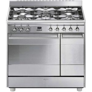 CUISINIÈRE - PIANO Cuisinière gaz SMEG SB 92 MX 8