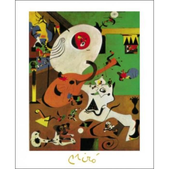 Joan miro poster reproduction interieur hollandais i for Joan miro interieur hollandais