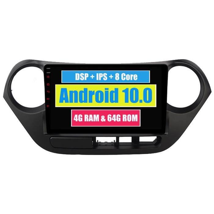 RoverOne Autoradio Stéréo GPS Navigation pour Hyundai i10 Grand i10 2013 - 2017 Android Radio Bluetooth DSP Écran Tactile