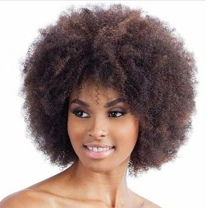 Perruques frisées synthétiques marron pour femmes perruque afro courte afro-américaine naturelle QYY81214715_1788