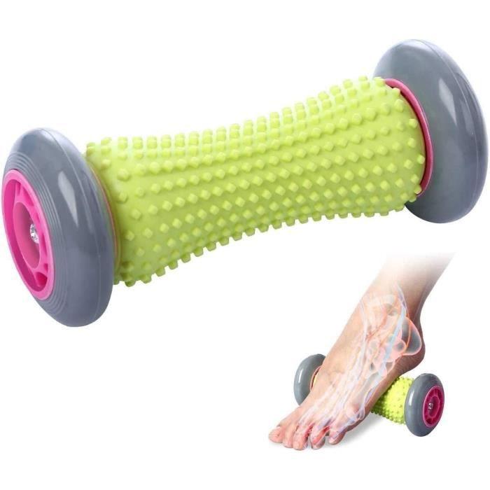 Fasciite plantaire Massage des rouleaux de pied pour les maux de dos et la récupération des points de déclenchement