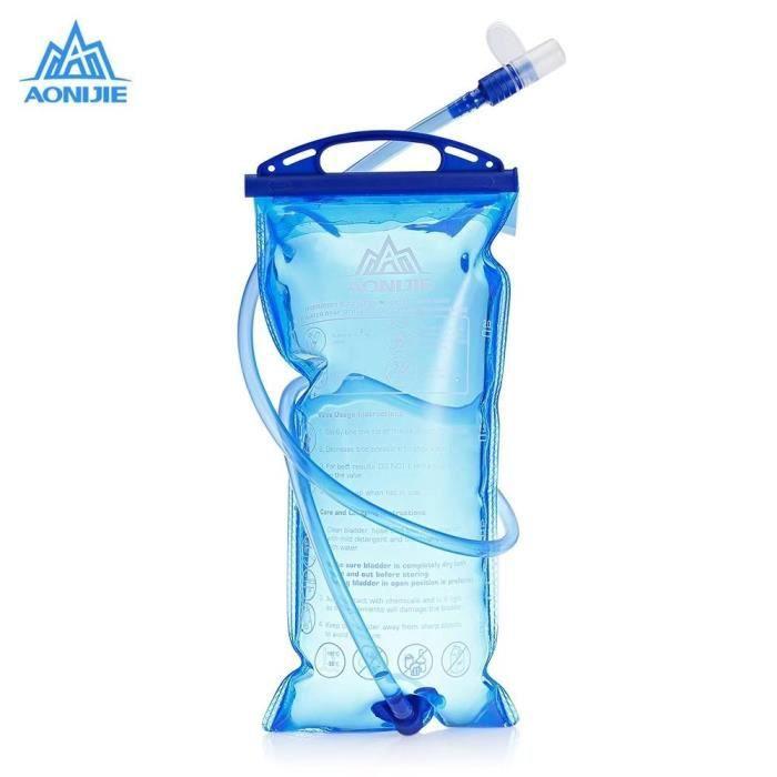 Poche Hydratation Portable 1 litres, Poche a Eau,Réservoir d'eau de Sport,Sacs à dos d'hydratation,Sacs d'hydratation