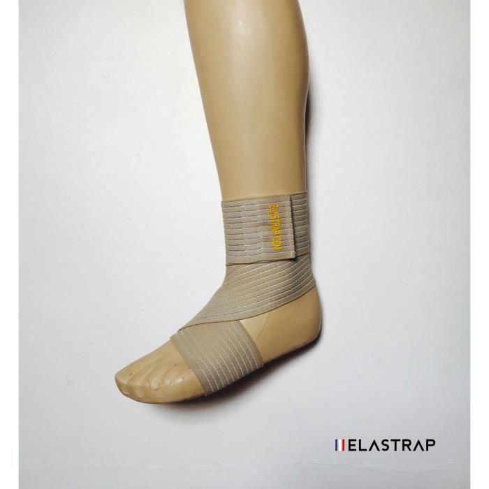 Bande bandage attelle cheville chevillère maintien règlable - blessures entorse - ultra leger - 70 x 7,5 cm - hommes femmes enfants