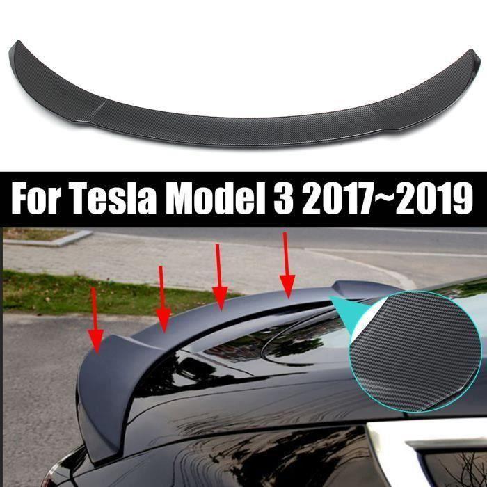 NEUFU Voiture Aileron Spoiler Arrière Fibre ABS Becquet Arrière Noir Brillant pour Tesla Model 3 2017-2019
