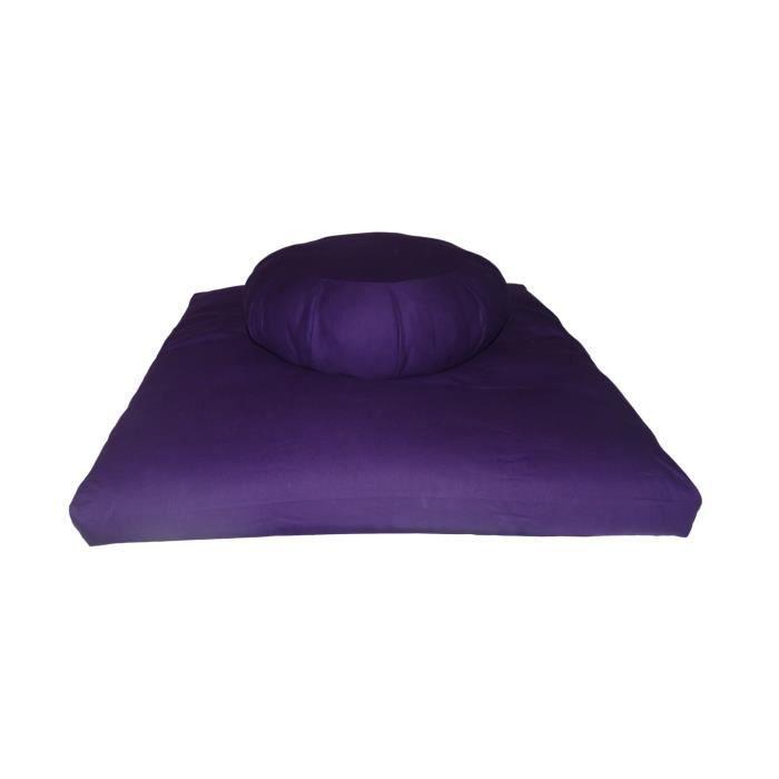 Set Zafu + Zabuton confort plus Violet