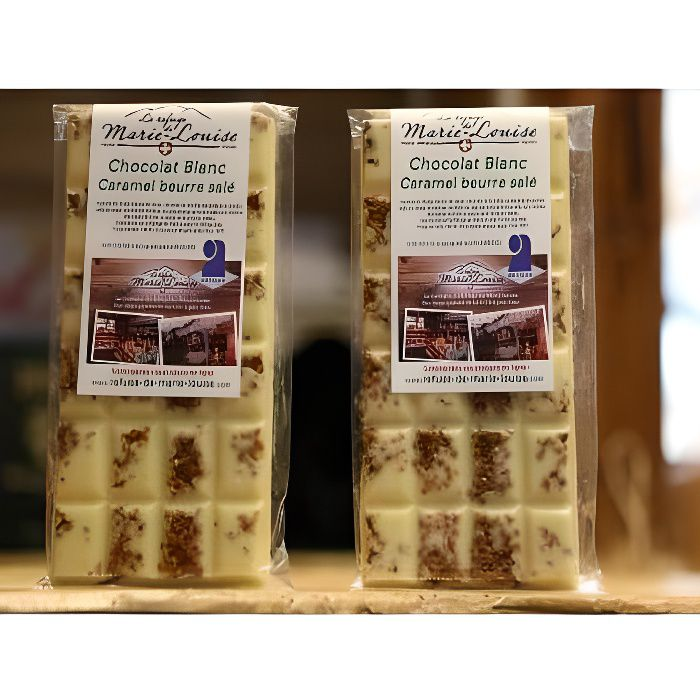 Chocolat de Savoie blanc caramel beurre sal&eacute