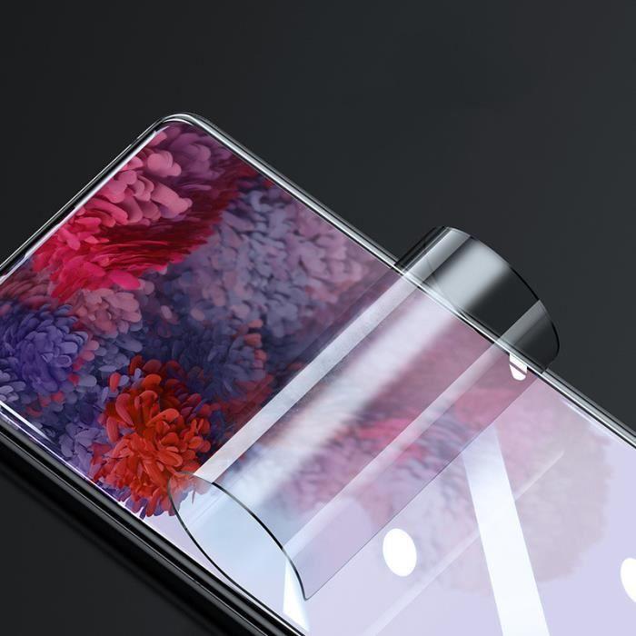 Samsung S20 Plus Protection Écran [2 Pièces] TPU , [Support Empreintes Digitales][Anhydre Installation]Film Protection Écran