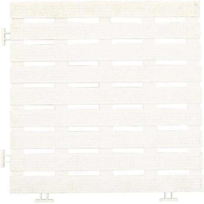 SALUTUY Tapis Antidérapant de Piscine, 4Pcs Tapis Antidérapant de Sol en PVC Tapis Antidérapants Accessoires Blanc, pour Piscine,331