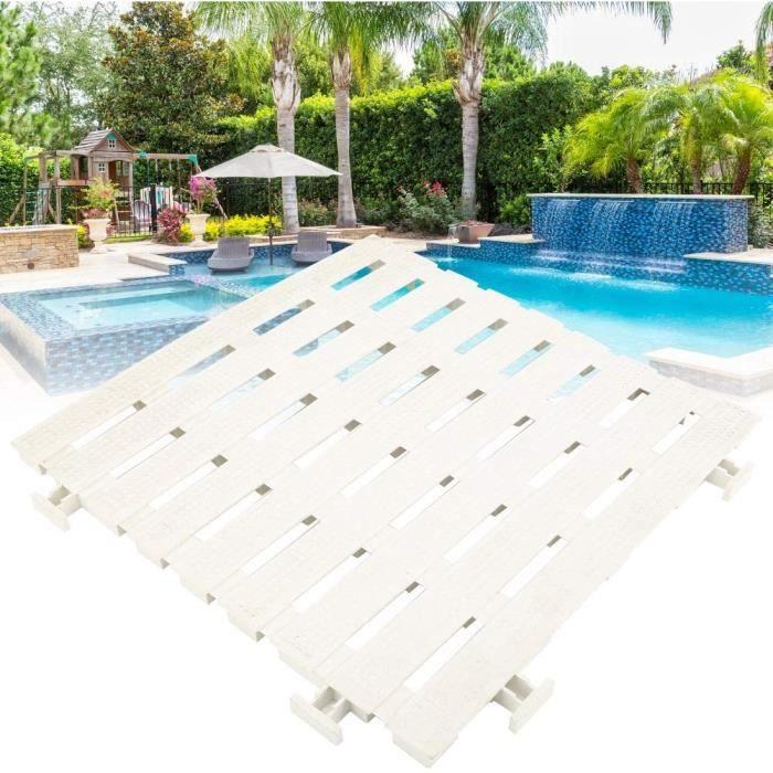 Tapis antiderapant 4 pieces Tapis de Sol Piscine PVC Tapis antiderapant pour piscines privees, piscines publiques et gymnases Sc,124