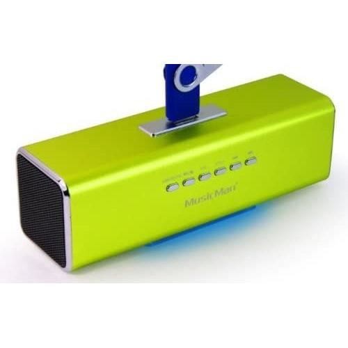 Technaxx Musicman MA Soundstation Enceinte stéréo pour Lecteur mp3/iPod/iPhone Vert