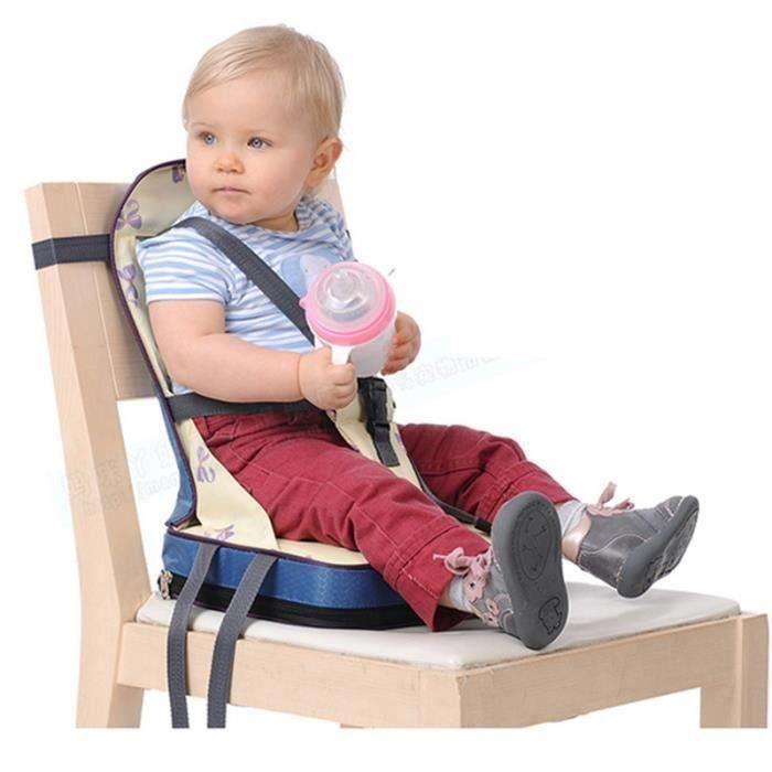 Pliant siège rehausseur Coussin de Chaise haute pour bébé avec harnais 5 points sécurité en tissu de fibre ,nylon et éponge ( H04DF