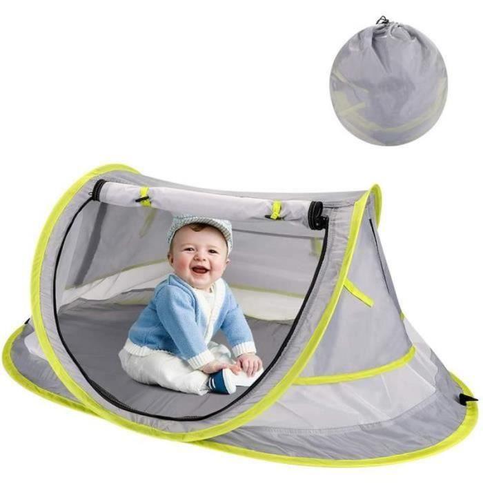 VV10565-Tente Plage Bébé Anti UV UPF 50+ Pliable Tente Pop Up pour Tente Bébé Intérieur Extérieur Protection Solaire Tente En