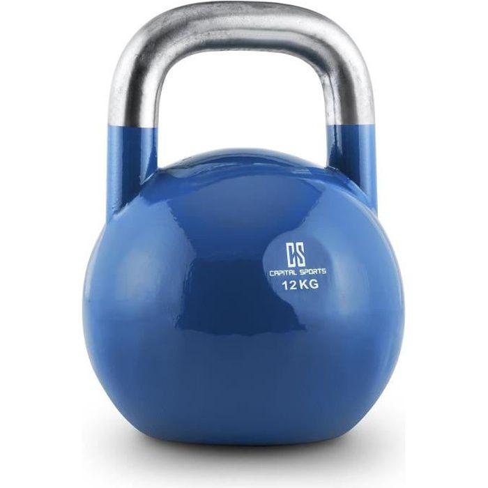CAPITAL SPORTS Compket - Kettlebell aux normes olympiques pour exercices de musculation : soulever, lancer, balancer - 12kg