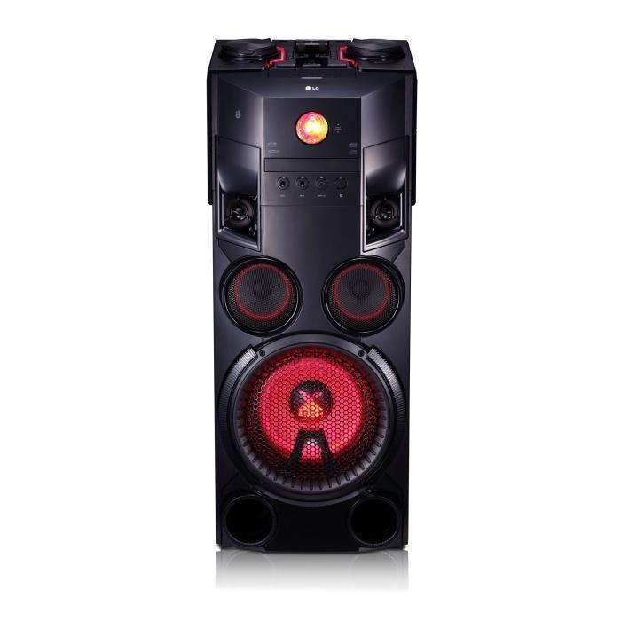 LG OM7560 Système Audio High Power - 1000W - Bluetooth - Lecteur CD - Radio FM RDS - Port USB - Entrée audio - Effets lumineux