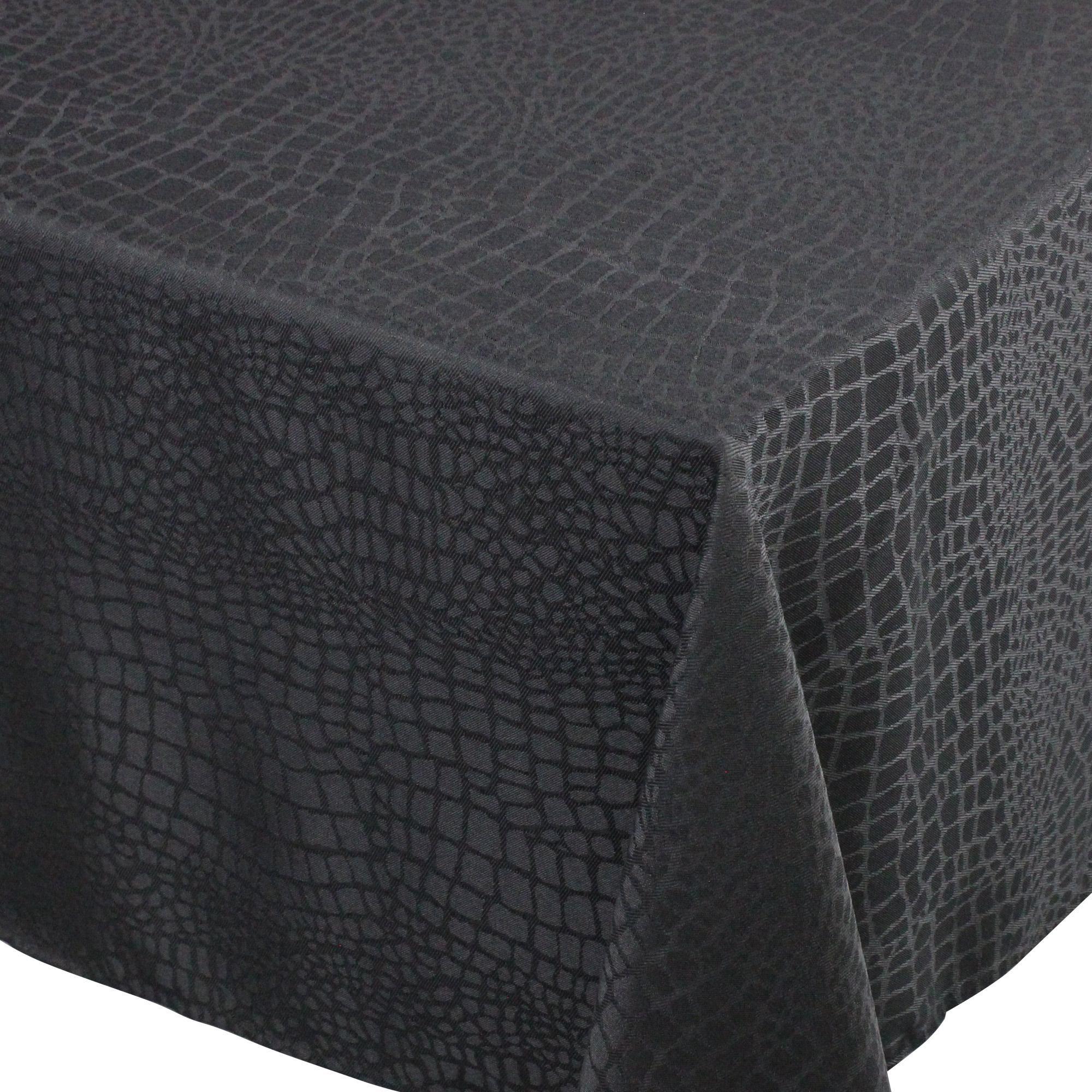 Nappe carrée 150x150 cm Jacquard 100% polyester LOUNGE noir Autre Noir