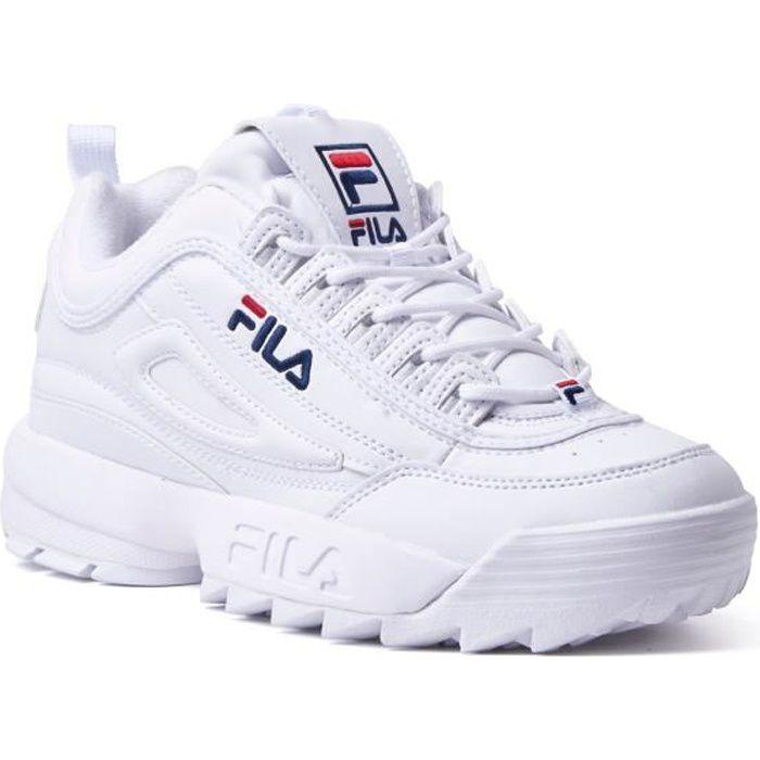 Baskets FILA Disruptor II 2 Low Chaussures Décontractées Femme Blanc